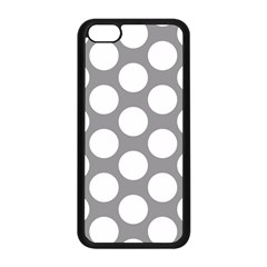 Grey Polkadot Apple iPhone 5C Seamless Case (Black)