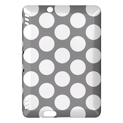 Grey Polkadot Kindle Fire HDX 7  Hardshell Case