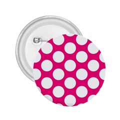 Pink Polkadot 2.25  Button