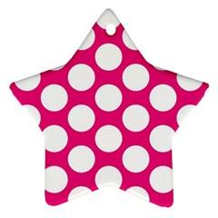 Pink Polkadot Star Ornament