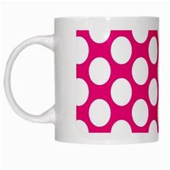Pink Polkadot White Coffee Mug