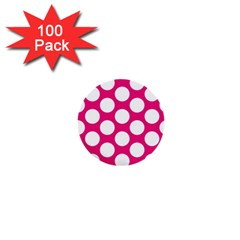 Pink Polkadot 1  Mini Button (100 pack)
