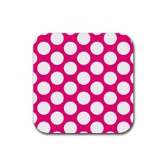 Pink Polkadot Drink Coasters 4 Pack (Square)
