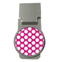 Pink Polkadot Money Clip (Round)