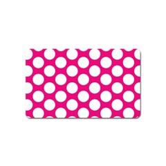 Pink Polkadot Magnet (Name Card)