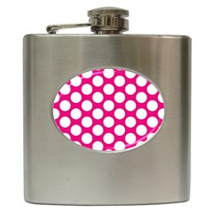Pink Polkadot Hip Flask