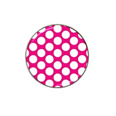 Pink Polkadot Golf Ball Marker 10 Pack (for Hat Clip)