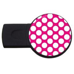 Pink Polkadot 4GB USB Flash Drive (Round)