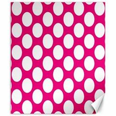Pink Polkadot Canvas 20  x 24  (Unframed)