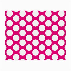 Pink Polkadot Glasses Cloth (Small, Two Sided)