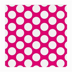 Pink Polkadot Glasses Cloth (medium, Two Sided)