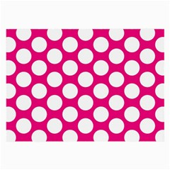 Pink Polkadot Glasses Cloth (Large, Two Sided)