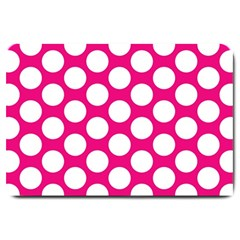 Pink Polkadot Large Door Mat