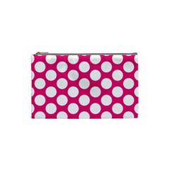 Pink Polkadot Cosmetic Bag (Small)