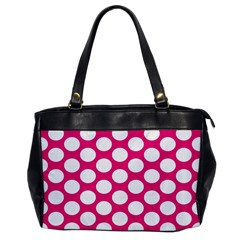 Pink Polkadot Oversize Office Handbag (one Side)