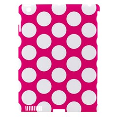 Pink Polkadot Apple iPad 3/4 Hardshell Case (Compatible with Smart Cover)