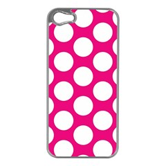 Pink Polkadot Apple iPhone 5 Case (Silver)