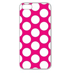 Pink Polkadot Apple Seamless Iphone 5 Case (clear)