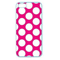 Pink Polkadot Apple Seamless iPhone 5 Case (Color)