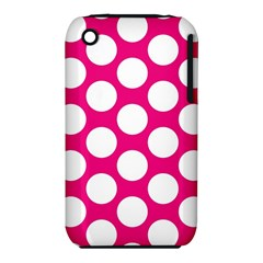 Pink Polkadot Apple iPhone 3G/3GS Hardshell Case (PC+Silicone)