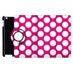 Pink Polkadot Apple iPad 2 Flip 360 Case