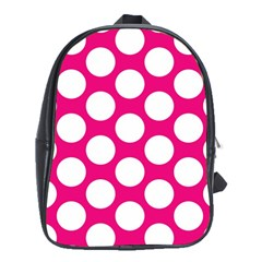 Pink Polkadot School Bag (xl)