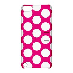 Pink Polkadot Apple iPod Touch 5 Hardshell Case with Stand