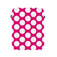 Pink Polkadot Apple iPad Protective Sleeve