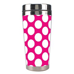 Pink Polkadot Stainless Steel Travel Tumbler
