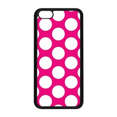 Pink Polkadot Apple iPhone 5C Seamless Case (Black)