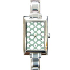 Jade Green Polkadot Rectangular Italian Charm Watch