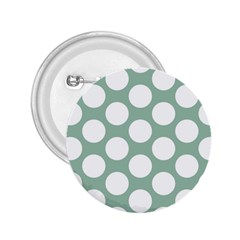 Jade Green Polkadot 2.25  Button