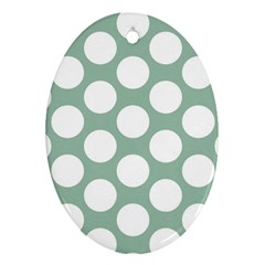Jade Green Polkadot Oval Ornament