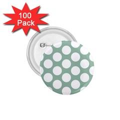 Jade Green Polkadot 1 75  Button (100 Pack)