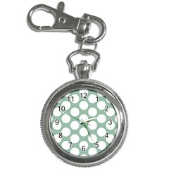 Jade Green Polkadot Key Chain Watch