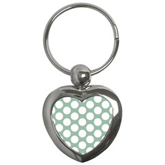 Jade Green Polkadot Key Chain (Heart)