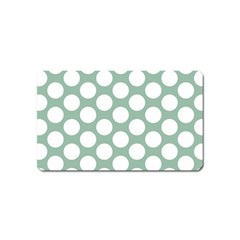 Jade Green Polkadot Magnet (Name Card)