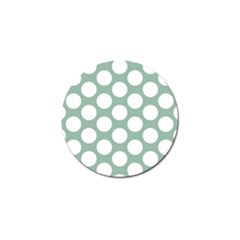 Jade Green Polkadot Golf Ball Marker 10 Pack