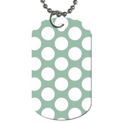 Jade Green Polkadot Dog Tag (two Sided)
