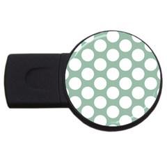 Jade Green Polkadot 2gb Usb Flash Drive (round)