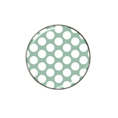 Jade Green Polkadot Golf Ball Marker 4 Pack (for Hat Clip)