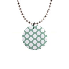 Jade Green Polkadot Button Necklace