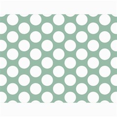 Jade Green Polkadot Canvas 18  x 24  (Unframed)