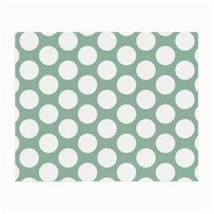 Jade Green Polkadot Glasses Cloth (Small, Two Sided)