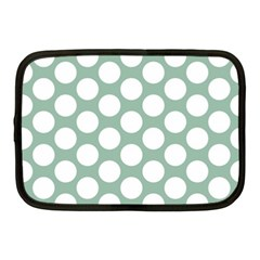 Jade Green Polkadot Netbook Sleeve (medium)