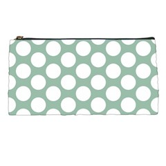 Jade Green Polkadot Pencil Case