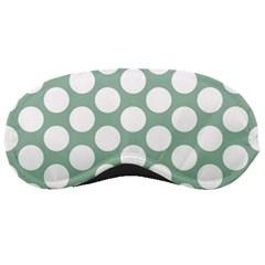 Jade Green Polkadot Sleeping Mask