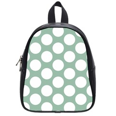 Jade Green Polkadot School Bag (Small)