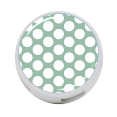 Jade Green Polkadot 4 Port Usb Hub (one Side)