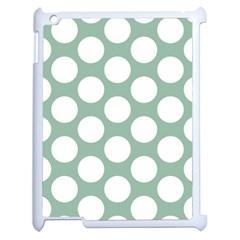 Jade Green Polkadot Apple Ipad 2 Case (white)